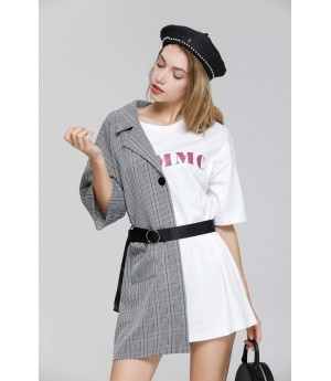MacyMccoy trellis shirt splice tie dress