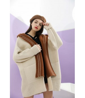 MacyMccoy hat, wool shawl coat-Creamy