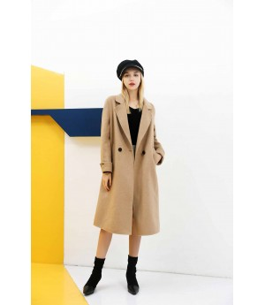 MacyMccoy pure wool double faced overcoat-Khaki