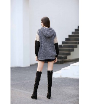 MacyMccoy split joint hooded sweater-grey