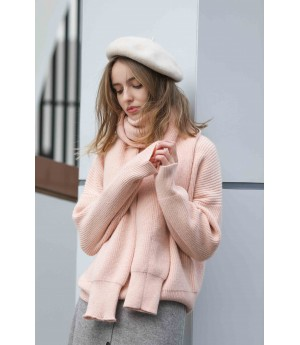 MacyMccoy Two sets of five-colour sweater around neck-Pink