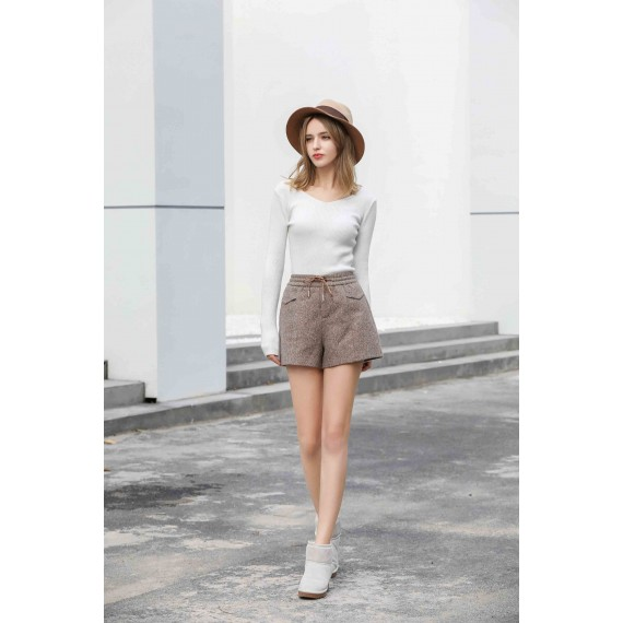 MacyMccoy Lace shorts-Coffee