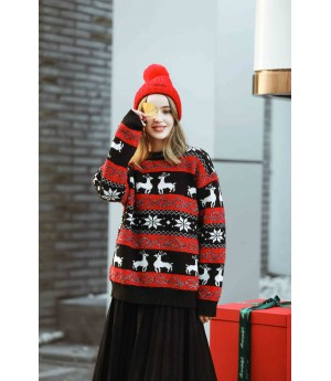 MacyMccoy Christmas sweaters-Black and Red