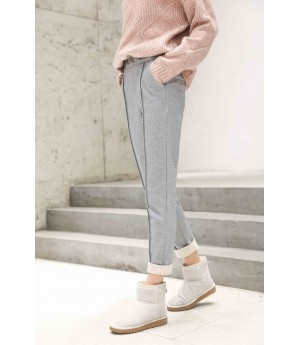 MacyMccoy Coloured flanged casual trousers-Grey