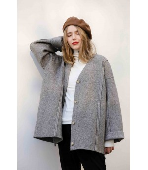 MacyMccoy Thickened cardigan-Gray