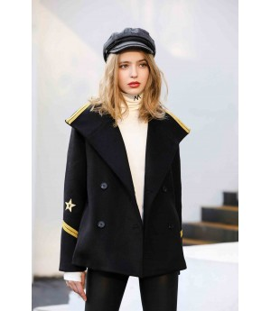 MacyMccoy Military woolen coat