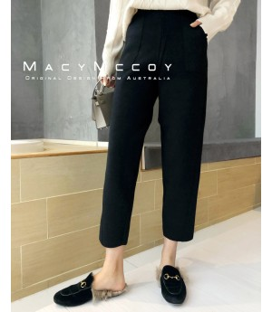 MacyMccoy Pure Color Pants-Black