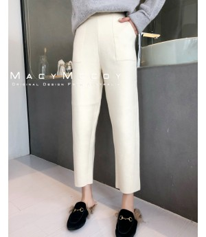 MacyMccoy Pure Color Pants-White