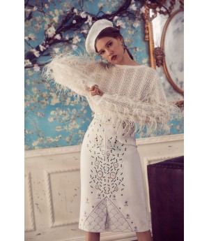 Marie Elie Feather sweater
