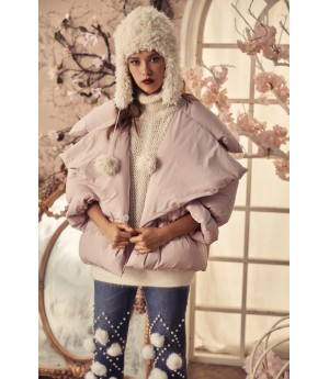 Marie Elie Pink Down Jacket