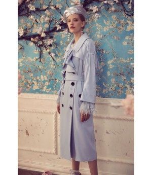 Marie Elie Blue Wind Coat
