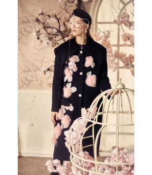 Marie Elie Pink Flower Coat