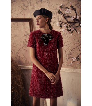 Marie Elie Red Langmeng Dress