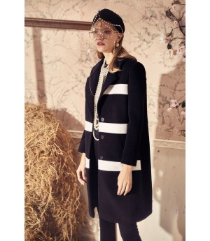 Marie Elie Black and White Coat