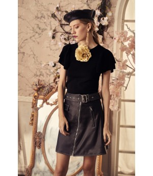 Marie Elie Black Bike Skirt