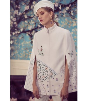 Marie Elie Embroidered cloak jacket
