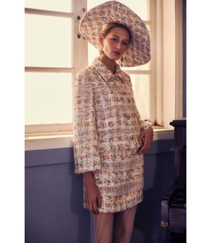 Marie Elie Flower Pattern Coat