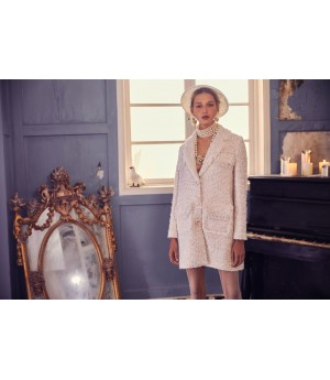Marie Elie Light Pink Coat