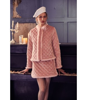 Marie Elie Pink Diamond Coat