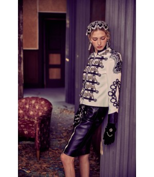 Marie Elie Iris Embroidery Coat