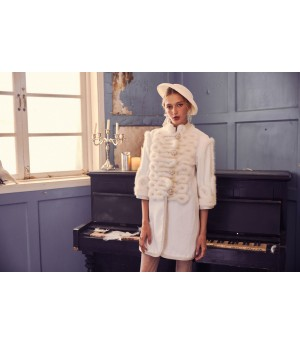 Marie Elie White Palace Coat