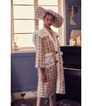 Marie Elie Butterfly Embroidery Coat
