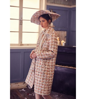 Marie Elie Butterfly Flower Pearl Coat