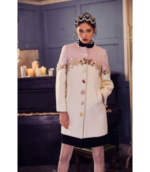 Marie Elie Lotus flower Coat