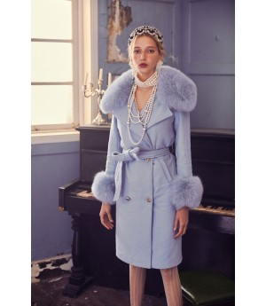Marie Elie Blue Fox Coat