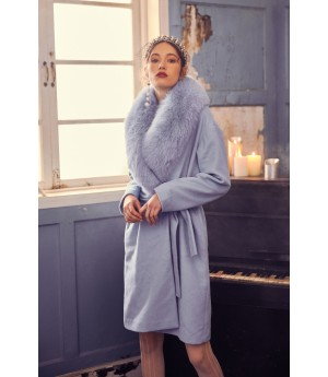 Marie Elie Blue Fox Coat Ⅱ