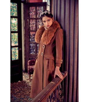 Marie Elie Brown Fox Coat