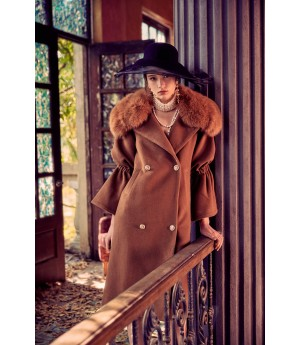 Marie Elie Brown Fox Coat II