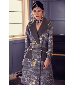 Marie Elie XuaoXuan Pearl Embroidery Coat