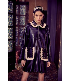 Marie Elie Black Pearl Lace Coat