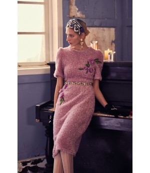 Marie Elie Pink Flower Dress