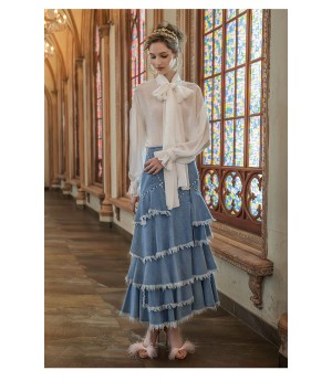 Marie Elie White Top