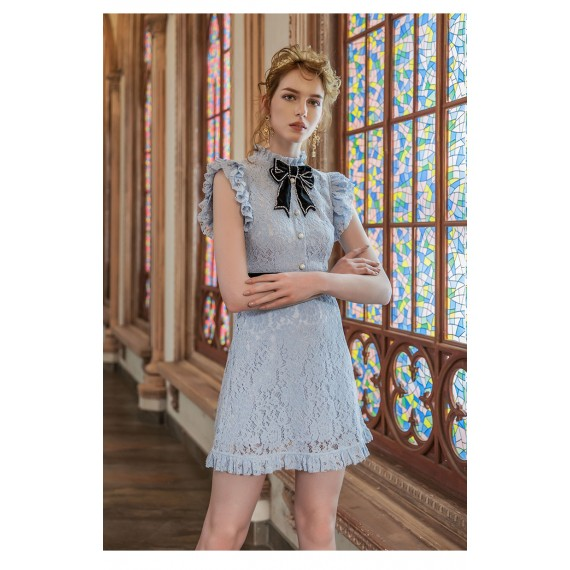Marie Elie Blue Lace Dress