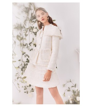 Marie Elie White Coat