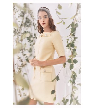 Marie Elie Yellow Skirt