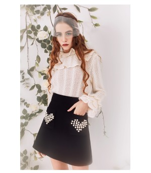 Marie Elie Black Skirt
