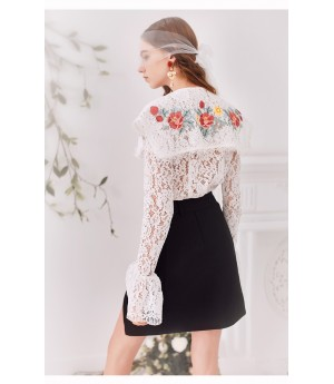 Marie Elie Lace Top