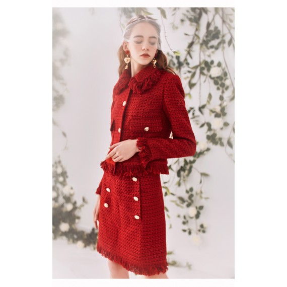 Marie Elie Red Coat