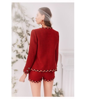 Marie Elie Red Shorts