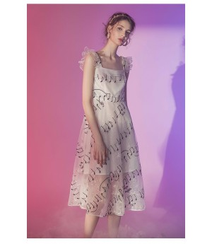 Marie Elie Music Note Dress