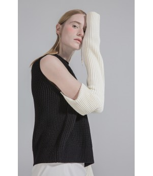 New Rules Knit Jumper- Black/ White