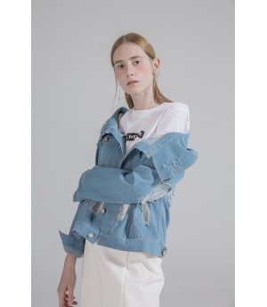 Rumia Burn Out Denim Jacket