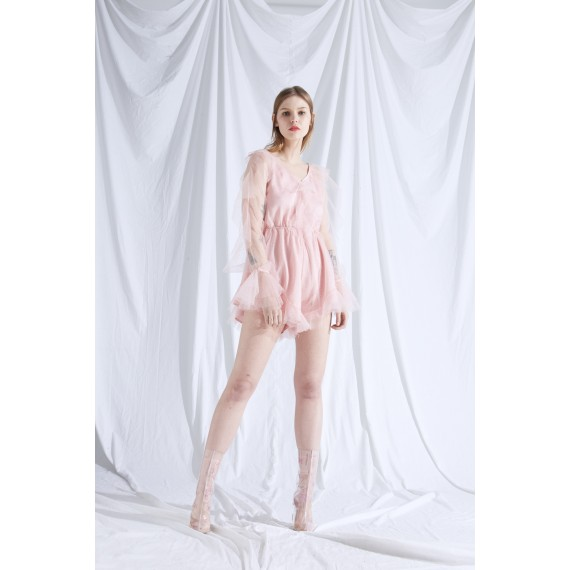 Rumia The Stars Playsuit- Pink
