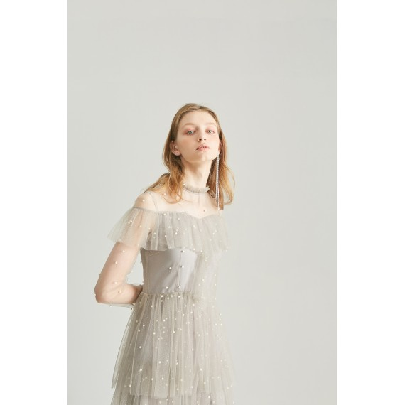 Rumia Grey Flash Back Dress