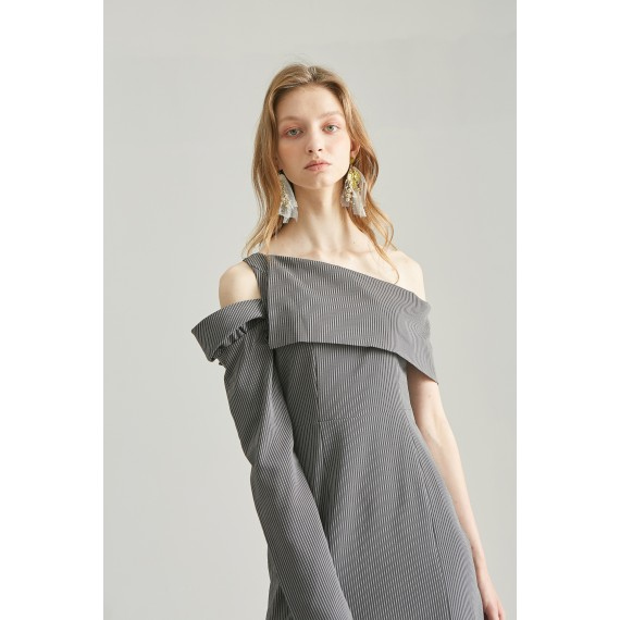 Rumia Grey Mojo Stripe Dress