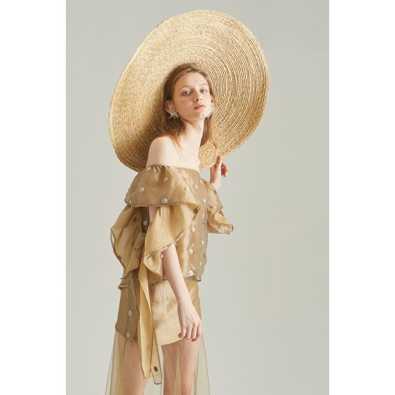 Rumia Inca Gold Wing Back Top and Wing Back Skirt